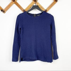 CLUB MONACO navy crew knit sweater XS